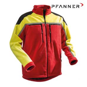 Gozdarska flis jakna PFANNER Jobby Colour rdeča/rumena